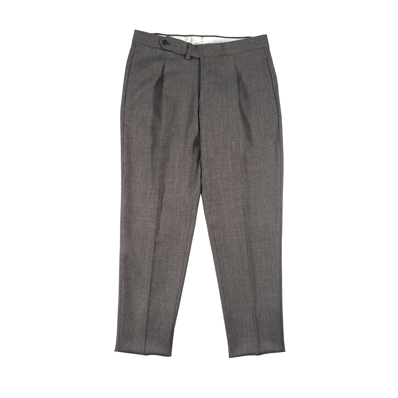 Vale Pantaloni in Flanella Tinta Unita una pence, due tasche, con cinturino prolungato