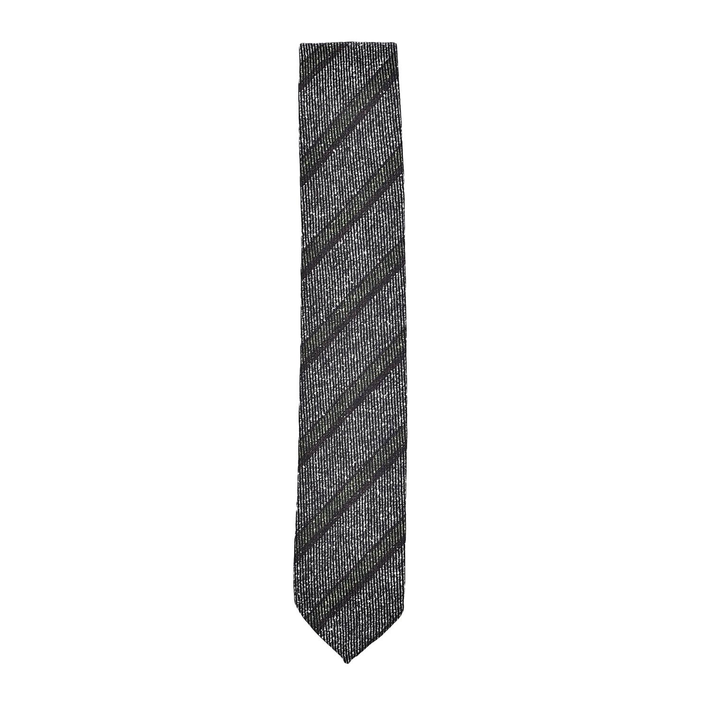 cravatta-sfoderata-seta-lana-nero-bianco-verde