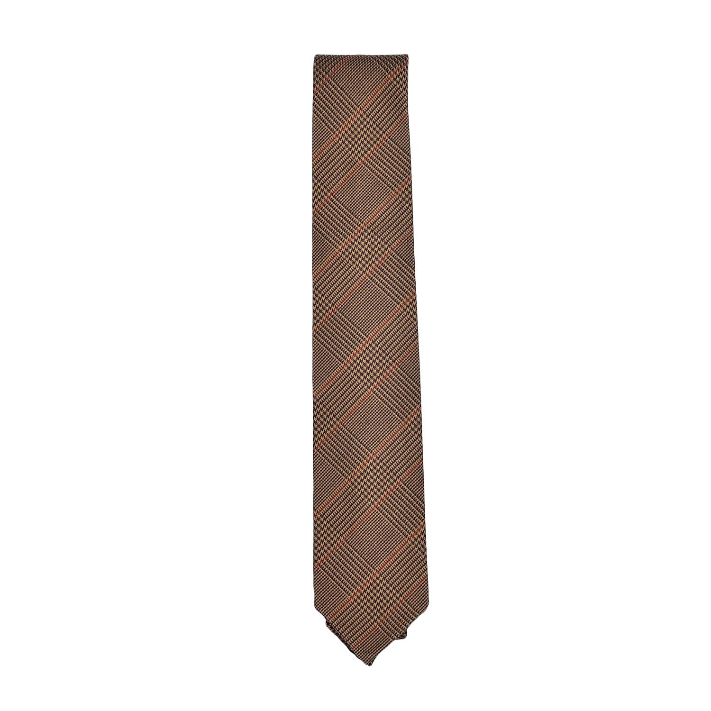 cravatta-seta-lana-marrone-chiaro-scuro-arancio