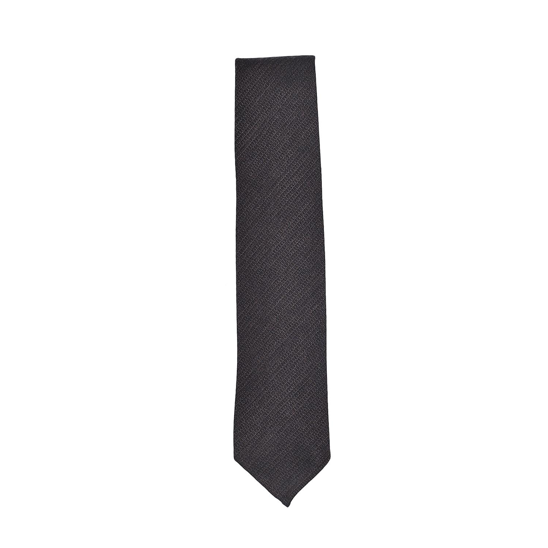 tie-wool-silk-brown-black-stripes