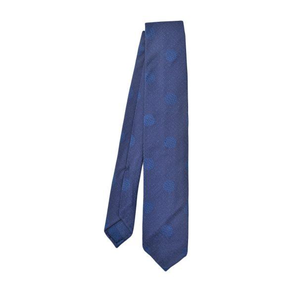 cravatta-sfoderata-pois-blu-chiaro